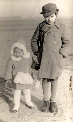 Baranow, Poland, Two Jewish children who perished in the Holocaust.