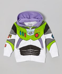 Look what I found on #zulily! White Buzz Lightyear Zip-Up Hoodie - Toddler by Toy Story #zulilyfinds