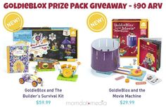 GoldieBlox Prize Pack Giveaway Open to: United States  Ending on: 10/30/2014