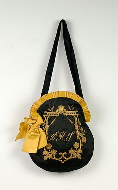 Evening bag, 1890-99, American.
