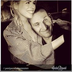 Billie Piper (Rose Tyler) and Christopher Eccleston (the Ninth Doctor Who) in a lovely portrait.