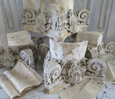 Plaster Capitals - 19th c French www.appleyhoare.com