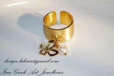 Ring sterling silver 925, gold plated. chevalie. butterfly.
