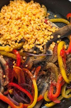 You won't miss the meat!   Mushroom Fajitas With Lentils Recipe #vegan
