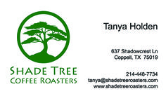 Shade Tree Coffee Roasters Business Card created by Marni G Designs #MarniGDesigns #BusinessCard #BC #ShadeTreeCoffeeRoasters
