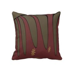 Greenery Burgundy Accent Pillow by juliakay Custom Pillows, Decorative Pillows, Accent Pillows, Throw Pillows, Knitted Fabric, Greenery, Your Design, Burgundy, Knitting