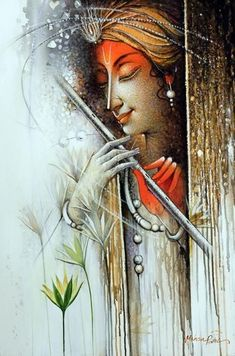 Indian Contemporary Art By Lord Shiva Painting, Ganesha Painting, Buddha Painting, Mural Painting, Peacock Painting, Lord Krishna Images, Radha Krishna Pictures, Krishna Radha, Shiva Art