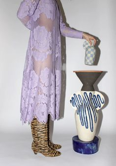 Larkin and Artist Maria Lenskjold's New Ceramics Collection Was Inspired by Hallucinogenic Plants Hippie Background, Copenhagen Street Style, Hippie Culture, Pink Curtains, Purple Walls, Modern Artwork, Cool Style, My Style, Vintage Fabrics