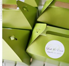 Out-of-town guests were greeted with a bottle of wine and a welcome box filled with edible goodies, a personalized bottle opener and custom maps with directions to each event.