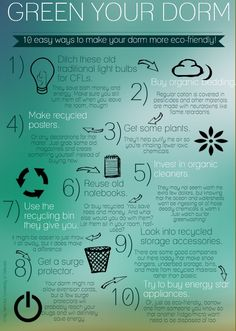 Incorporated some of these into my own room!  Green Your Dorm PGC Day 4 Greenest @Christina Boucher Turning Green
