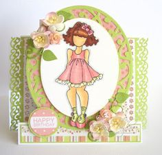 Another day, another card: Girly birthday