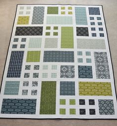 Taking Turns three blocks by four and sashing both inside and outside the blocks-I really like this idea and it would be cute in any number of colorways...