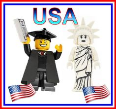 USA Mini Figures,Statue of Liberty Toy, Graduation Figure,Block Toys,Cake Topper,Christmas Gift,Birthday Present by KandiKatz on Etsy