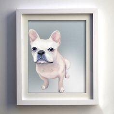 HandPainted Original French Bulldog Fine Art PRINT by Geordanna the Artist of GlamLambCreations, $24.99
