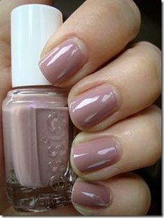 Blush/dusty pink nail polish