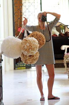 How to Make Party Poms via Lilyshop Blog by Jessie Jane