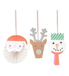 MERI MERI Jolly character decorations