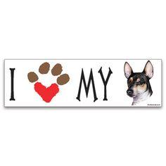 [Bumper Sticker] - I Heart My Toy Fox Terrier