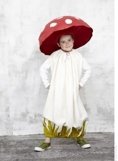 Totally in love with this Mushroom Costume taken from Les Déguisements d& by Julianne Bleckmann and Valérie Dumon t ( Mes Carnets . Clever Halloween Costumes, Creative Costumes, Cute Costumes, Halloween Kids, Costume Ideas, Halloween Stuff, Halloween Makeup, Carnaval Costume, Mushroom Costume