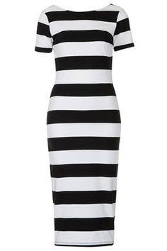 Big Stripe Midi Dress
