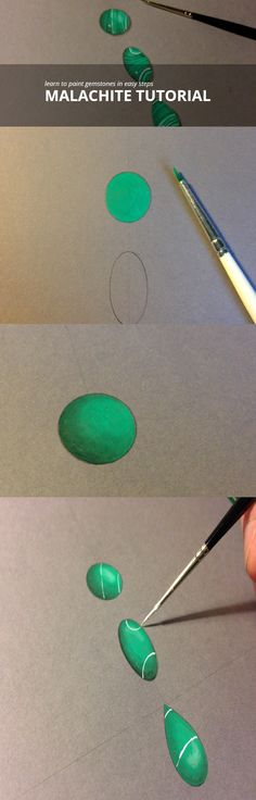http://edwardflemingjewellery.com/blog/  Malachite painting tutorials