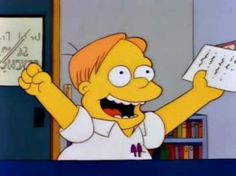 """I got : """"Finally! A genius like me who knows all of us!"""" out of ) - Can You Name These Minor Simpsons Characters?"""