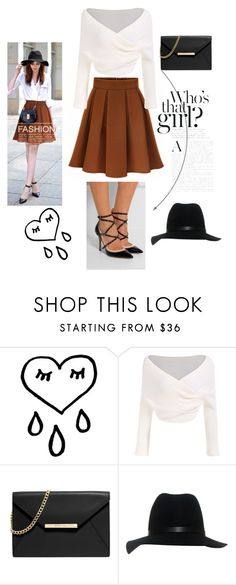 """""""modern style Wrinkle High Waist skirt bandage high heels"""" by fashionvivianguo ❤ liked on Polyvore featuring MICHAEL Michael Kors, rag & bone, modern, high and brown"""