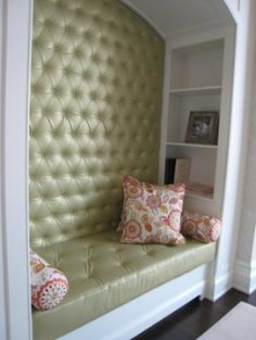 Tufted reading nook