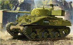 Sherman Firefly Mk.Ic Hybrid 'Zemsta II', 3° Squadrone lancieri «Krechowiecki», 2.ª Divisione Corazzata «Warszawska» polacca; Italia 1944-45. Chang Heum