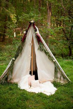Fun Wedding Theme for Fall: Camping