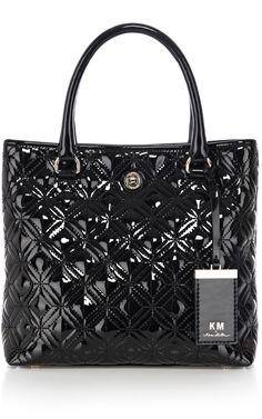 Bags | Black KM by Karen Millen quilt | KarenMillen Stores Limited