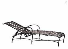 Roma Strap Adjustable Chaise in a Textured Pewter Finish