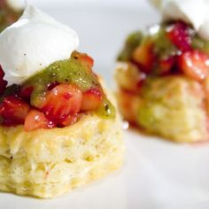 """Strawberry Kiwi Tartlets I """"Wow! I made these tartlets for my foods class and they were awesome. The glaze on the shells was amazing."""""""