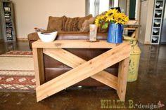 DIY Furniture : DIY 5 Board Cross Brace Console or Side Table