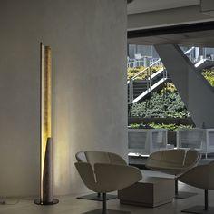 I found this amazing piece of Italian Design on Lovli  Reed lampada da terra oro