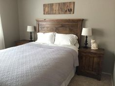 Headboard and nightstands   Do It Yourself Home Projects from Ana White
