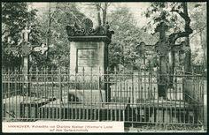 Oude ansichtskarte van het graf van  Charlotte Kestner in Hannover
