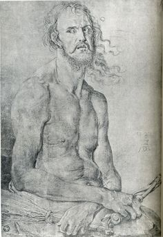 Albrecht Dürer (German, 1471-1528) Self-Portrait as the Man of Sorrows circa 1522