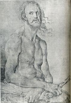 Albrecht Dürer (German, 1471-1528) Self-Portrait as the Man of Sorrows circa 1522