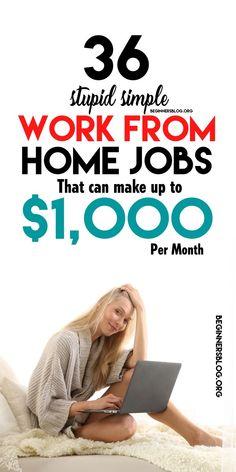 Online Side Jobs, Online Jobs For Moms, Work From Home Jobs, Make Money From Home, Way To Make Money, Best Side Jobs, Own Business Ideas, Legitimate Online Jobs, Online Tutoring