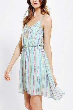 Pins And Needles Chiffon Flutter-Back Dress