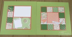 Quilt Square Spread from Scrapbooking Summer School