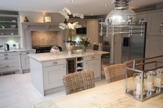 Our gallery of hundreds of real-life kitchen ideas. Including case studies and designer input, helping you to get ideas for your new kitchen. Real Kitchen, Kitchen Paint, Open Plan Kitchen, Living Room Kitchen, Country Kitchen, Kitchen Decor, Kitchen Walls, Kitchen Ideas, Kitchen Wood
