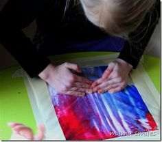 A no-mess artistic sensory activity that is always a hit in our home! From mamasmiles.com