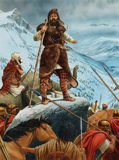 On the summit- Hannibal enters Italy