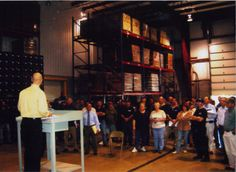 In celebration of our 25th anniversary, every Thursday we post a picture for Throw Back Thursday. #tbt  Co-owner, Bryan Shinn, addressing the company at our annual company meeting. #thewaterguy