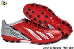 Fashion Red White Black Adidas F10 TRX AG Football Shoes Store