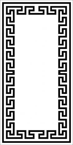 It also stencils Frame Border Design, Boarder Designs, Stencil Designs, Greek Pattern, Pattern Art, Cnc Cutting Design, Celtic Patterns, Borders For Paper, Wood Bed Design