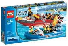 Amazon.com: LEGO City Set #60005 Fire Boat: Toys & Games