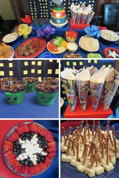 Easy adorable superhero party food Superhero Birthday Ideas